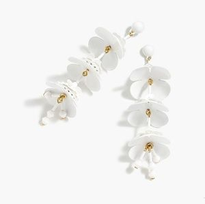 J. Crew Bead & Blossom Flower Dangle Drop Earrings